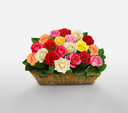 Reinbo Matsuri <Br><Font Color=Red>15 Mixed Roses</Font>