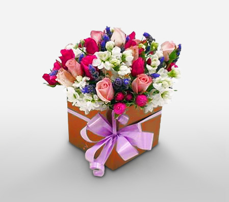 This Is Big<Br><Font Color=Red>Roses & Lavender in a box</Font>