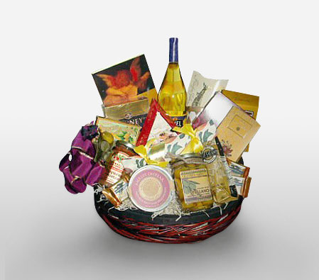 Cheese Indulgence-Chocolate,Gourmet,Basket,Hamper