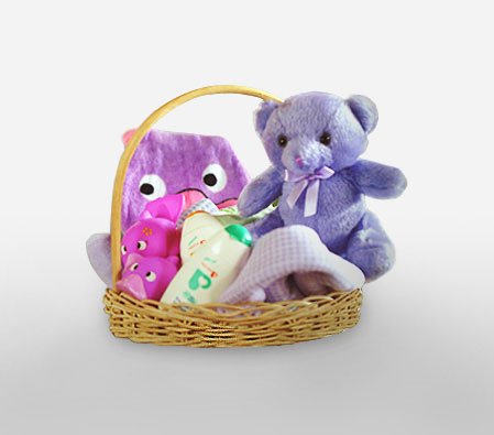 Little Wonder-Teddy,New born baby,Basket