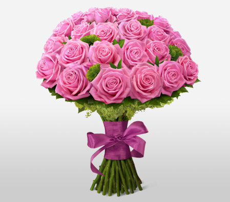 Pink Passion <Br><Font Color=Red>Two Dozen Roses </Font>