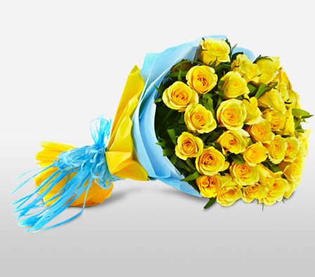 Goa Paradiso <Br><span>A Bunch Of 30 Yellow Roses</span>