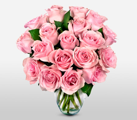 Valentines Pink Roses Pink,Rose,Bouquet. NEXT DAY DELIVERY