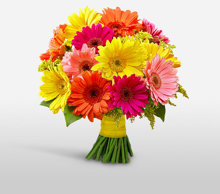 Tagaytay<Br><Font Color=Red>Bouquet of Colorful Gerberas</Font>
