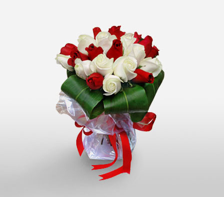 Blushing Reds <Br><Font Color=Red>18 Roses Bouquet</Font>