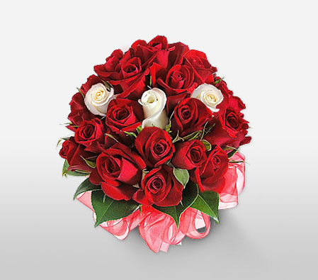 White Blush <Br><Font Color=Red>Two Dozen Roses</Font>