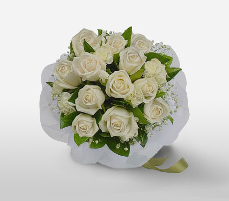 Galleria Borhgese-White,Rose,Bouquet