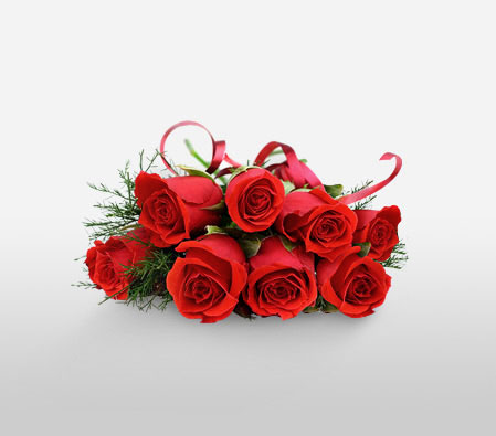 Ruddy 8 <Br><Font Color=Red>8 Red Roses</Font>