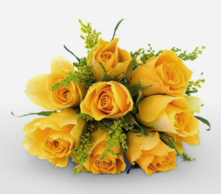 Lively Bouquet <Br><Font Color=Red>8 Yellow Roses</Font>