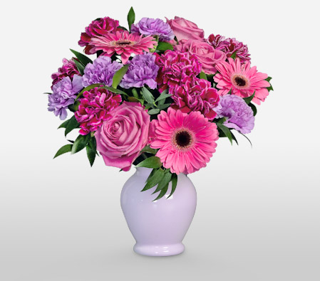 Perky<Br><Font Color=Red>Pink and Purple Bouquet</Font>