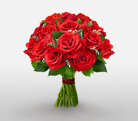 Fascination-Red,Rose,Bouquet