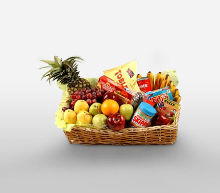 Food Hamper With Fruits-Fruit,Gourmet,Basket